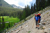 On the trail from Josephus lake to Helldiver lake.